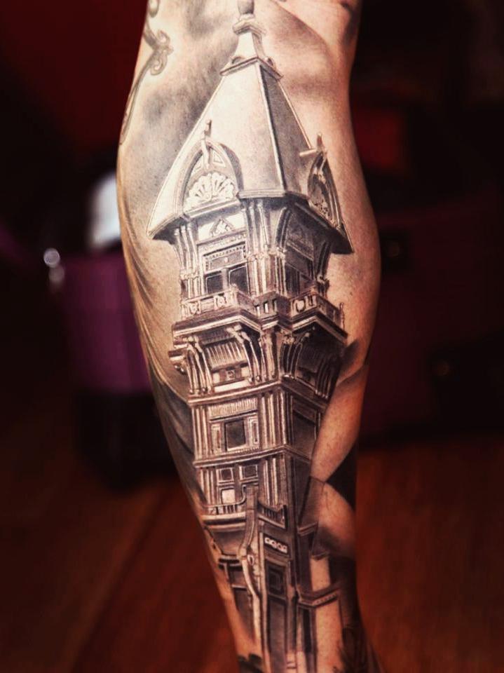 City Tower New School tattoo