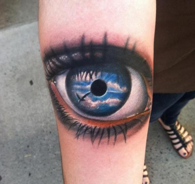 Clear Sky in the Eye Realistic tattoo by Johnny Smith Art