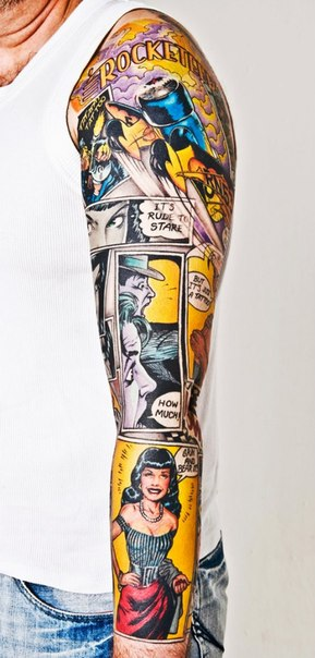 Comic Book Page Rocketeer tattoo sle