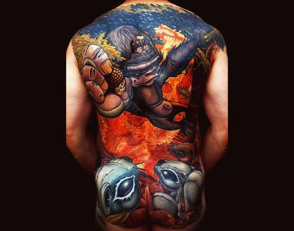 Control the Ape New School tattoo