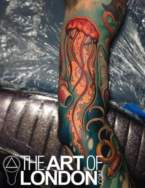 Cool Jellyfish tattoo by The Art of London