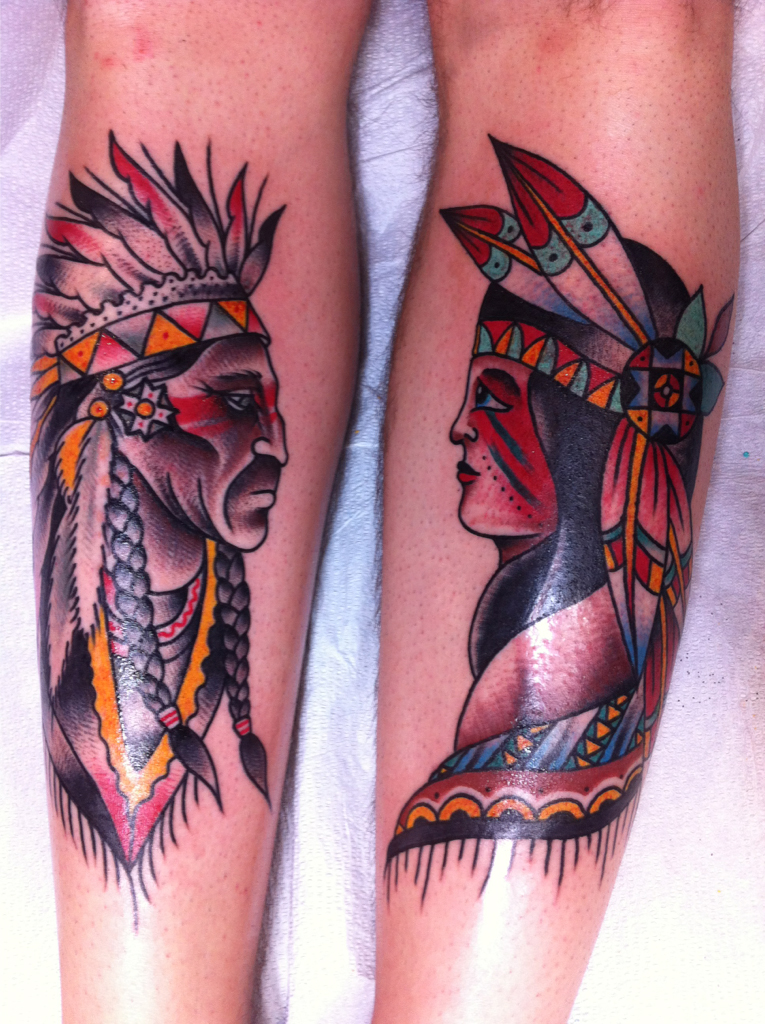 Couple Indian tattoo
