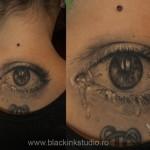 Crying Eye Realistic tattoo by Black Ink Studio
