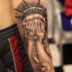 Crying Liberty Chicano tattoo