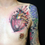 Cube Heart tattoo by Jan Mràz
