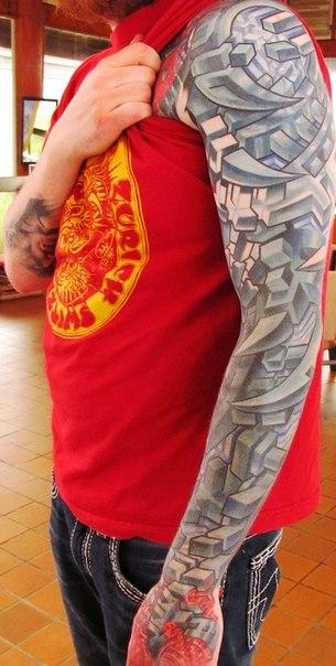Cube Parts tattoo sleeve