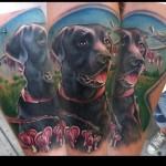Curious Dog tattoo by Johnny Smith Art