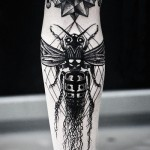 Curly Wasp Graphic tattoo idea on Hand