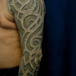 Curved Tracery tattoo sleeve