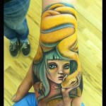 Cute Girl and Snake tattoo by Johnny Smith Art