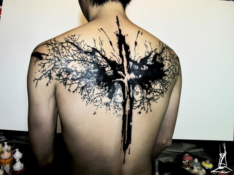 Dark Crusfix Trash Polka tattoo