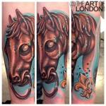 Dead Horse Head tattoo by The Art of London