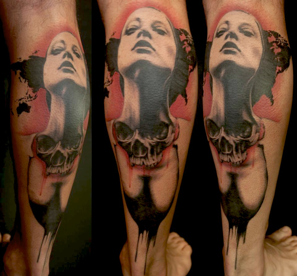 Deadly Beauty Trash Polka tattoo
