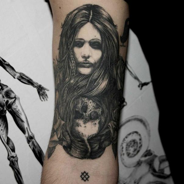 Death Awaits Graphic tattoo idea