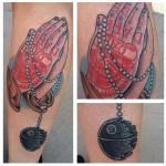 Death Star Rosary Star Wars tattoo by Last Angels Tattoo