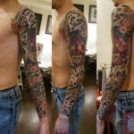 Desperate Laught Demon Japanese tattoo sleeve