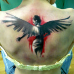 Devil Angel Trash Polka tattoo by Adam Kremer