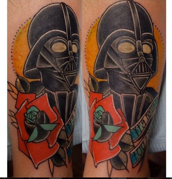 Devine Vader Star Wars tattoo by Last Angels Tattoo