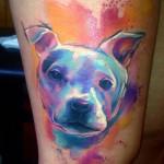 Doggy Aquarelle tattoo by Adam Kremer