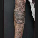 Dotwork Skull Tattoo Sleeve by Chapel tattoo