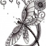 DragonFly tattoo sketch