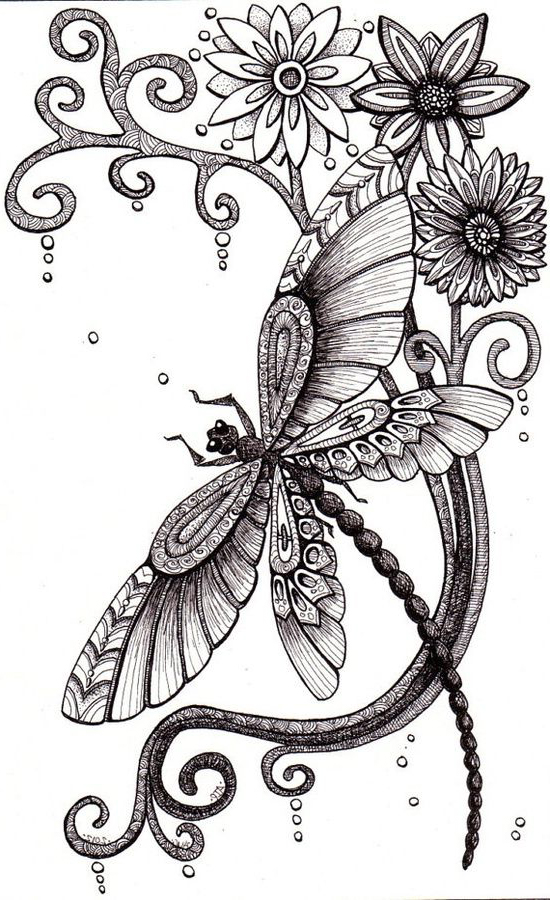 dragonfly tattoo sketch best tattoo ideas gallery. Black Bedroom Furniture Sets. Home Design Ideas