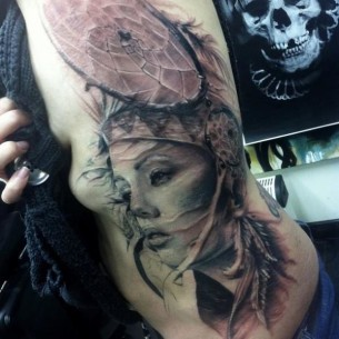 Dream Catcher Realistic tattoo by Jak Connolly