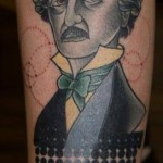 Edgar Allan Poe New School tattoo by Last Angels Tattoo