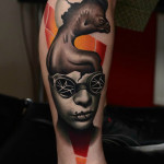 Egg Head Chicken tattoo by AD Pancho