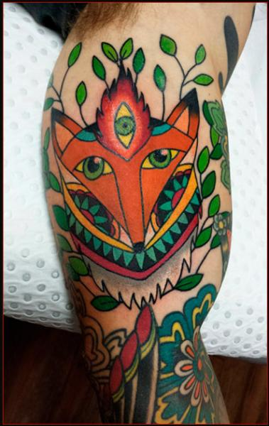 Enlightened Fox tattoo on Hand by Chapel tattoo
