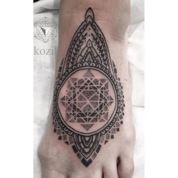 Ethnic Dotwork tattoo by Hidden Moon Tattoo