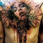 Explosive Face and Raven tattoo by Jak Connolly