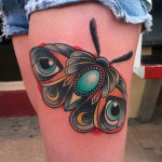 Eye Wings Moth New School tattoo by Last Angels Tattoo
