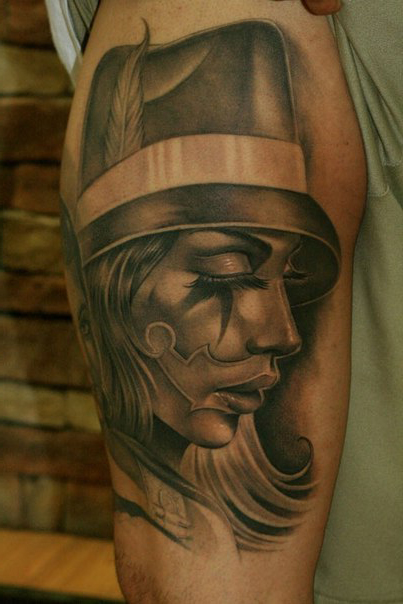 Eyes Closed Chicano tattoo