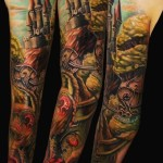 Fairy Tale Magic Castle tattoo sleeve