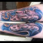 Film Shark tattoo by Johnny Smith Art