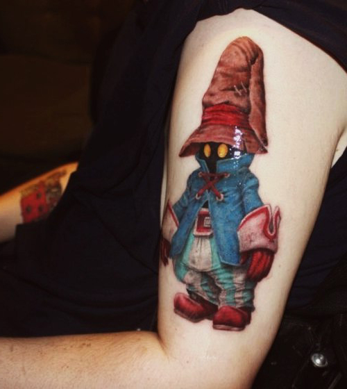 Final Fantasy Creep New School tattoo