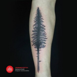 Fir-Tree Graphic tattoo by 2vision Estudio