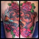 Fire Bear New School tattoo by Marked For Life