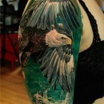 Fly Above the Water Eagle tattoo by Led Coult
