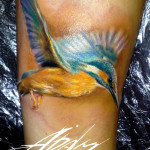 Flying Colibri Aquarelle tattoo by Adam Kremer