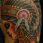 Flying Leaves Beauty Indian tattoo