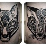 Fox and Cat Graphic tattoo idea