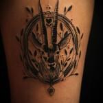 Frame Goat Graphic tattoo idea