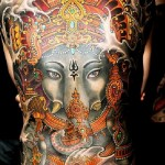 Full Back Ganesha Religious tattoo