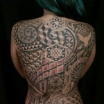 Full Back Mandalas Abstraction Dotwork tattoo by Anthony Ortega
