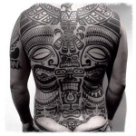 Full Back Maoti Blackwork tattoo by Chopstick Tattoo