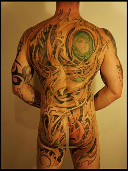 Full Body Thorn Back Organic tattoo