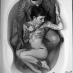 Full Body in Bath Couple tattoo