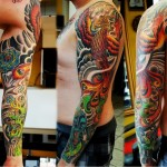 Furious Phoenix tattoo sleeve